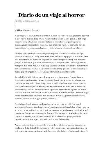 Diario de un viaje al horror - CGT Barcelona