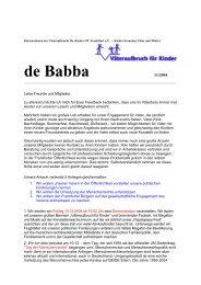 November 2004 - Väteraufbruch für Kinder - Frankfurt