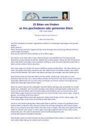20 Bitten von Kindern an ihre geschiedenen oder getrennten Eltern