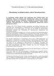 Presseerklärung des VAFK