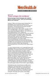 'Frauen schlagen öfter als Männer' - Bamberg