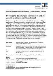 Psychische Belastungen von Kindern und Ju - vds Landesverband ...