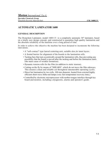 AUTOMATIC LAMINATOR 1600