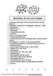 Materialliste - Joseph-Heckler-Schule