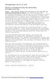 Pressebericht Kultusministerium - Joseph-Heckler-Schule