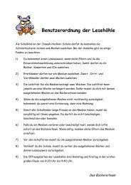Benutzerordnung der Lesehöhle (pdf) - Joseph-Heckler-Schule