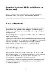 Docentenvel opdracht 18 (De grote klimaat- en ... - Europa morgen