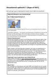 Docentenvel opdracht 7 (Hype of feit?) - Europa morgen