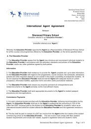 Agents Agreement - Sherwood School