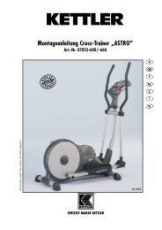 "Montageanleitung Cross-Trainer ""ASTRO"" - Fahrrad Kaiser GmbH"