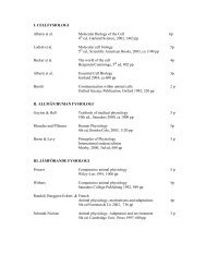 I. CELLFYSIOLOGI Alberts et al. Molecular Biology of the Cell 6p 4th ...