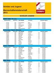 Spielerliste Schüler-Jugend MM 2013