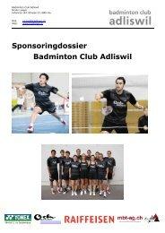 Sponsoringdossier Badminton Club Adliswil