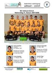 adliswil – zürich - Badminton Club Adliswil