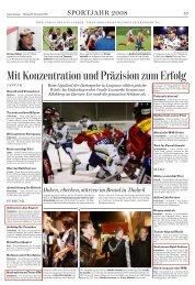 Mit Konzentration und Präzision zum Erfolg - Badminton Club Adliswil