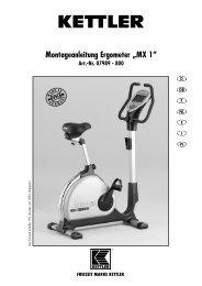 und Montageanleitung - MX1 2006 - Fahrrad Kaiser Gmbh