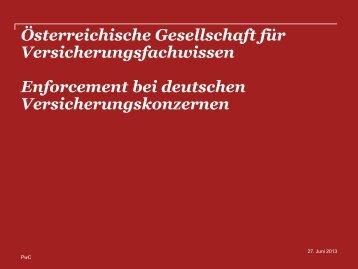 Alexander HOFMANN - Gesellschaft für Versicherungsfachwissen
