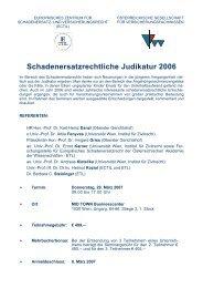 Schadenersatzrechtliche Judikatur 2006 - Gesellschaft für ...