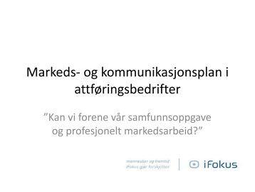 Markeds- og kommunikasjonsplan i Vekstbedrifter - NHO