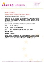 supervisionstag energetische psychologie nach trauma - Rothen