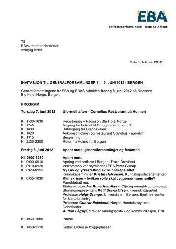 Til EBAs medlemsbedrifter v/daglig leder Oslo 1. februar ... - NHO
