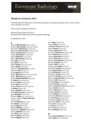Website_Thanks to reviewers 2011 - European Radiology