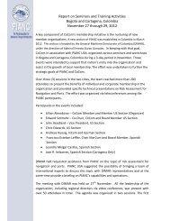 Report on Seminars and Training Activities, Bogota ... - PIANC USA