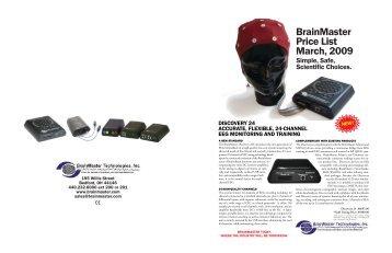 Mini Catalog (2009) - BrainMaster Technologies