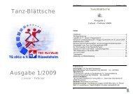 Tanz-Blättsche Ausgabe 1/2009 - TSC Rot-Weiß Rüsselsheim