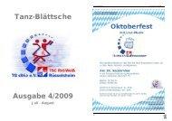 Tanz-Blättsche Ausgabe 4/2009 - TSC Rot-Weiß Rüsselsheim