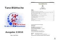 Ausgabe 2/2010 - TSC Rot-Weiß Rüsselsheim