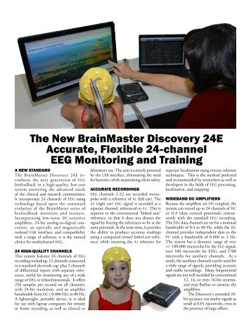 The New BrainMaster Discovery 24E Accurate, Flexible 24-channel ...