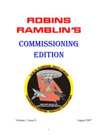 ROBINS RAMBLIN'S COMMISSIONING EDITION - USS Robins