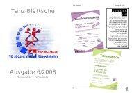 Tanz-Blättsche Ausgabe 6/2008 - TSC Rot-Weiß Rüsselsheim