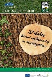 Festbroschüre 20 Jahre Urlaub am Bauernhof im SalzburgerLand