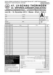 Meldebogen zur HSS und LV-Schau (A-Bogen)