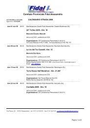 Calendario strada provincia di Alessandria