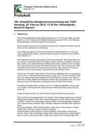 Protokoll TASV Delegiertenversammlung 2012