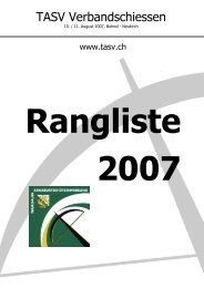 Rangliste - TASV