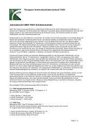 Jahresbericht Schützenmeister - TASV
