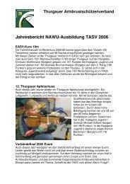 Jahresbericht NAWU-Obmann - TASV