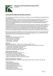 Jahresbericht 2005 des Schützenmeisters - TASV
