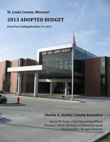 2013 budget summary - St. Louis County