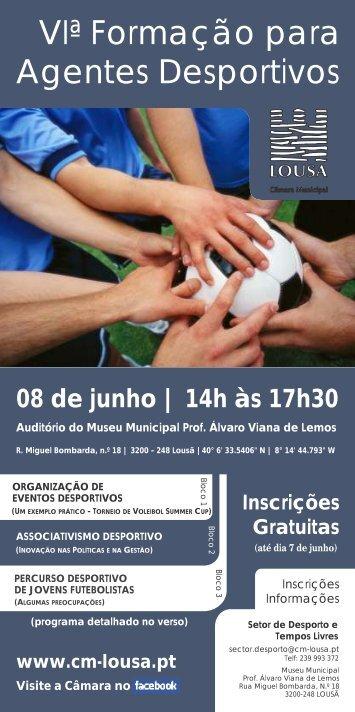 Programa e Ficha de Inscrição - Câmara Municipal da Lousã