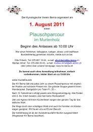1. August 2011 Plauschparcour - Kynologischer Verein Düdingen