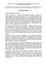 9-1. Fastensonntag im Lesejahr C - 17.02.2013 von Pfr. Dr ...