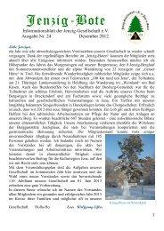 Ausgabe Nr. 24: Dezember 2012 - Jenzig-Gesellschaft eV