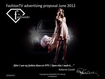 FashionTV advertising proposal June 2012 - FashionTV Corporate ...