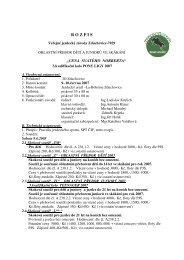 Rozpis závodů - Pony komise ČJF