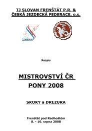 Rozpis M ČR Pony S+D 2008